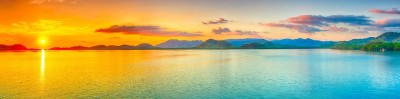 skinali peisaj lac apus