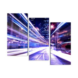 Tablou multi canvas 3 piese City in motion