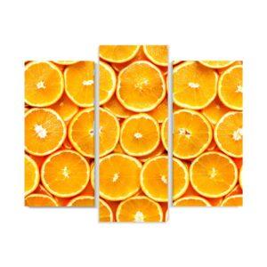 Tablou multi canvas 3 piese Portocale