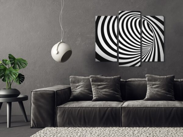 Tablou multi canvas 3 piese Spirala