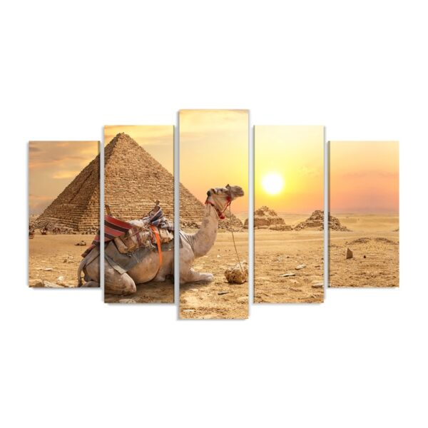 Tablou multi canvas 5 piese Egypt Sunrise