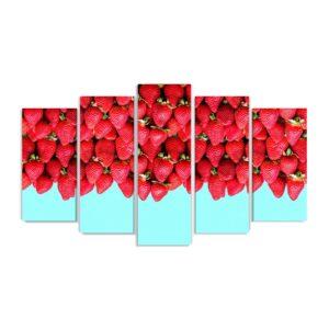 Tablou multi canvas 5 piese Strawberries