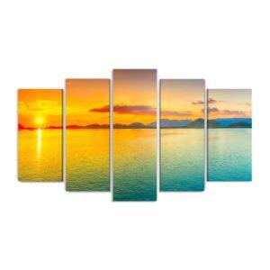 Tablou multi canvas Sunrise 100 x 177 cm