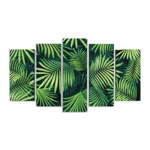 Tablou multi canvas tropical leaves 100 x 177 cm