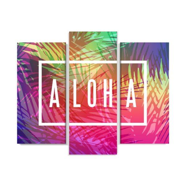 vTablou multicanvas 3 piese Aloha Hawaii