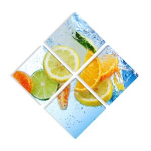 Tablou multicanvas 4 piese Fruits Splash