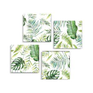 Tablou multicanvas 4 piese Tripical Leaves