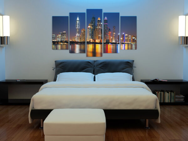 Tablou multi canvas 5 piese NIght City