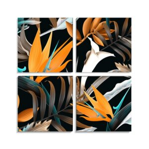 Tablou multicanvas 4 piese Abstract Flower