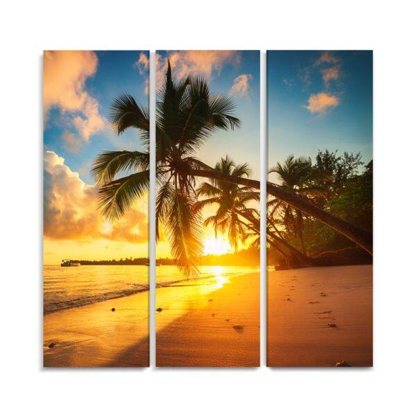 Tablou multicanvas 3 piese Tropical Beach