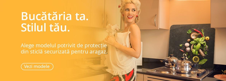 Protectie aragaz bucatarie din sticla securizata printata si rezistenta termic Skinali Decor