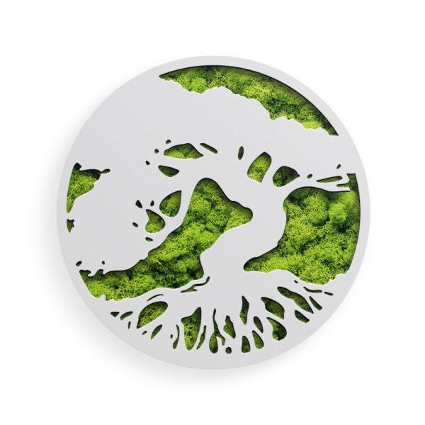 Decoratiune cu licheni model Tree of Life 02 culoare alb Skinali Decor
