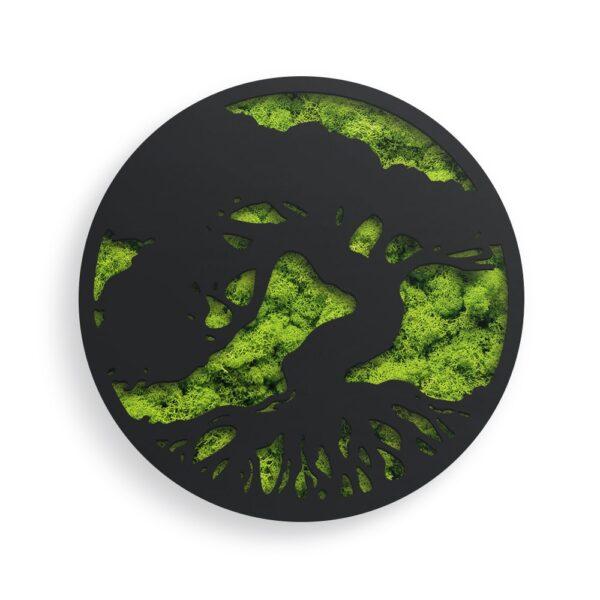 Decoratiune cu licheni model Tree of Life 02 culoare negru Skinali Decor