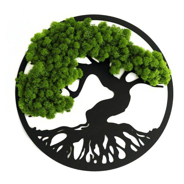 Decoratiune cu licheni Copacul vietii verde deschis diverse dimensiuni - Skinali Decor ro