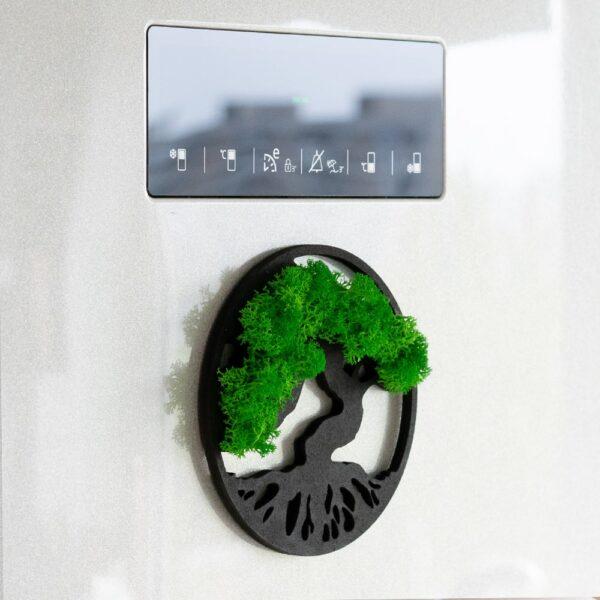 Magnet frigider cu licheni Copacul Vietii 10cm - Skinali Decor